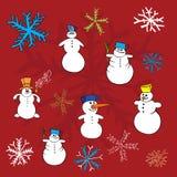 De wintervectoren van Kerstmis Stock Afbeelding