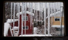 De wintervenster Stock Afbeelding