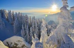 De winterverhaal op berg Royalty-vrije Stock Foto