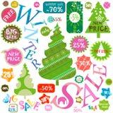 De winterverkoop Stock Foto's