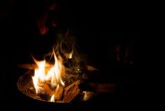 De wintervlammen stock afbeeldingen