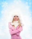 De wintervrouw Royalty-vrije Stock Foto