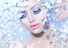 De wintervrouw Royalty-vrije Stock Afbeeldingen