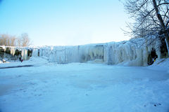 De winterwaterval Stock Foto's