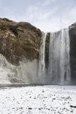 De winterwaterval royalty-vrije stock afbeelding