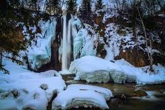 De winterwaterval Royalty-vrije Stock Afbeeldingen