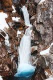 De winterwaterval Stock Fotografie