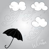 De winterweer Stock Foto's