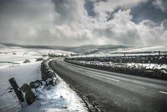 De winterweg Stock Fotografie
