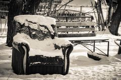 De winterwerf Royalty-vrije Stock Afbeelding
