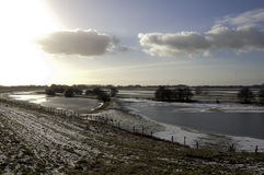 De winterwonder landschap stock foto