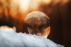 De winterwonder zeepbal royalty-vrije stock afbeelding