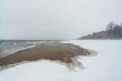 De winterzeekust Royalty-vrije Stock Afbeeldingen
