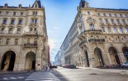 De winterzon in Wenen Royalty-vrije Stock Afbeeldingen