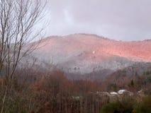 De winterzonsopgang stock foto's