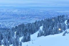De Winterzonsopgang van de hoenberg Stock Afbeeldingen