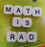 De wiskunde is Rad Royalty-vrije Stock Afbeelding