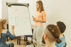 De wiskunde van het leraarsonderwijs aan studenten Stock Foto
