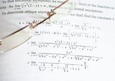 De wiskunde van het onderwijs stock foto's