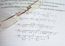 De wiskunde van het onderwijs royalty-vrije stock fotografie