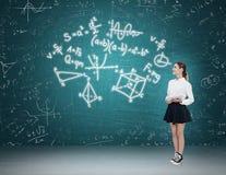 De wiskunde van het vrouwenonderwijs Stock Foto's
