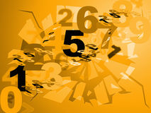 De wiskundeaantallen toont Numeriek Cijfers en Ontwerp Stock Foto