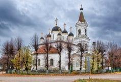 De wit-stenen Drievuldigheidskerk in Tver Royalty-vrije Stock Afbeelding