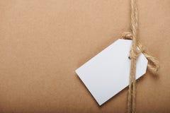 De Witboekmarkering hangt op koord stock afbeelding