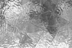 De witte abstracte achtergrond van het spiegelmozaïek Stock Foto