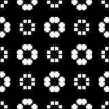 De witte achtergrond en de zwarte repeted patroon Royalty-vrije Stock Foto