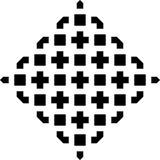 De witte achtergrond en de zwarte repeted patroon Stock Afbeelding