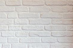 De witte achtergrond van de bakstenen muurtextuur stock foto