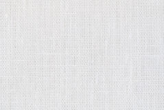 De witte achtergrond van de linnentextuur Royalty-vrije Stock Foto