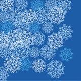 De witte achtergrond van de Sneeuwvlok Royalty-vrije Stock Foto