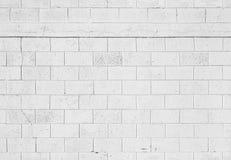 De witte achtergrond van de steenmuur, naadloze textuur Stock Afbeeldingen