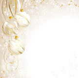 De witte achtergrond van Kerstmis Royalty-vrije Stock Afbeeldingen