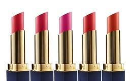 De Witte Achtergrond van Matte Lipstick Colors Isolated On Stock Afbeeldingen