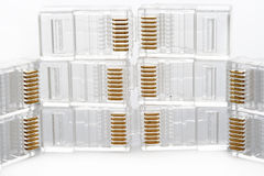 De witte adapter van TV Royalty-vrije Stock Foto's