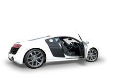 De witte auto van Audi R8 royalty-vrije stock afbeelding