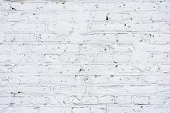 De witte baksteen schilderde muur, abstracte stedelijke achtergrond, textuur, exemplaarruimte stock afbeelding