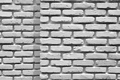 De witte bakstenen muur van de hoek Royalty-vrije Stock Afbeeldingen
