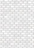 De witte bakstenen muur van Grunge Stock Afbeeldingen