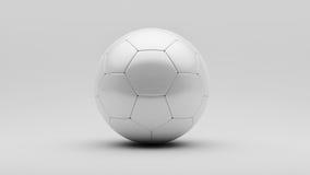 De witte Bal van het Voetbal Royalty-vrije Stock Foto's