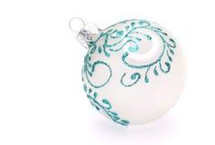 De witte Bal van Kerstmis Royalty-vrije Stock Foto's