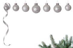 De witte ballen van Kerstmis Stock Foto