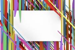 De witte banner op de achtergrondkleur van de fragmenten Stock Afbeeldingen