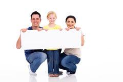 De witte banner van de familie Stock Foto's