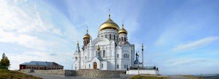 De Witte Berg van het klooster Stock Afbeeldingen