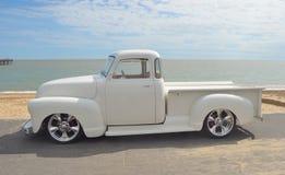 De witte bestelwagen van Chevrolet van 1952 Royalty-vrije Stock Foto's