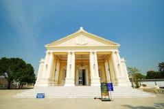 De witte bouw in het paleis Stock Foto's